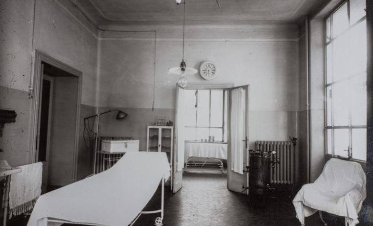 L'ospedale, foto d'epoca, Crespi d'Adda