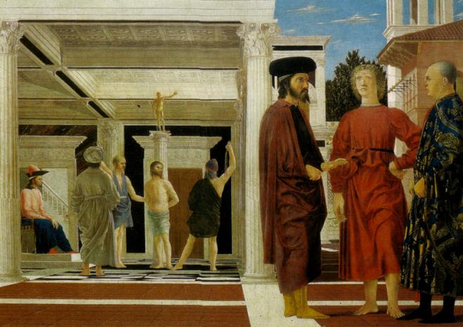 La flagellazione di Cristo, opera di Piero della Francesca