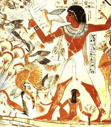 Caccia selvaggina Antico Egitto