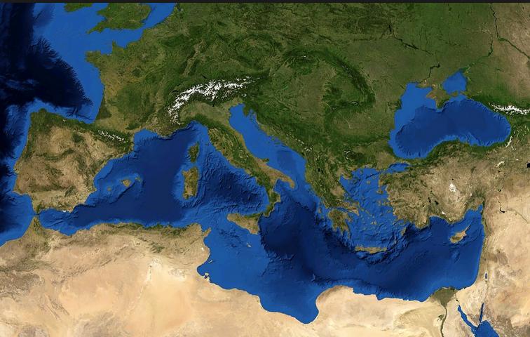 Il Mar Mediterraneo, ieri eoggi