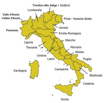 Cartina Italia Modificabile.Regioni A Confronto Progetto Ipazia
