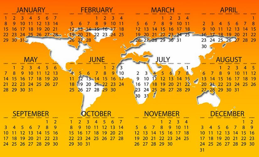 Un calendario per le Giornate Mondiali  e le ricorrenzenazionali